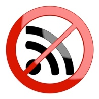 3d graphic of a restricted wifi sign not allowed